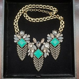 Bronze Teal statement necklace